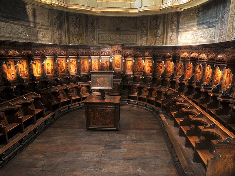 Percorso Papi della Rovere Cattedrale Coro Ligneo