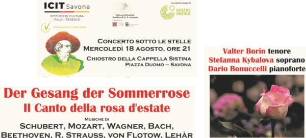 """CONCERTO PER PIANOFORTE E VOCI """"Il Canto della rosa d'estate"""
