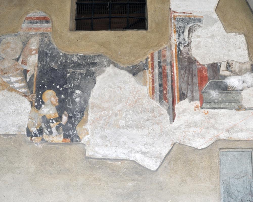 Chiostro francescano - San Giorgio con un cavaliere inginocchiato