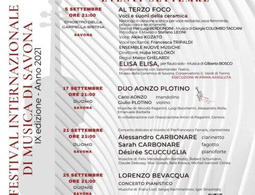 I concerti di Settembre nel Complesso Museale della Cattedrale Cappella Sistina di Savona